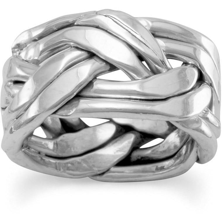 Oxidized Braided Ring in Women's Sizes
