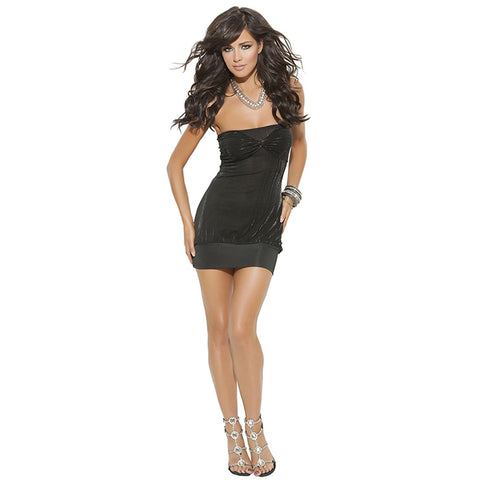 Black Strapless Mini Dress