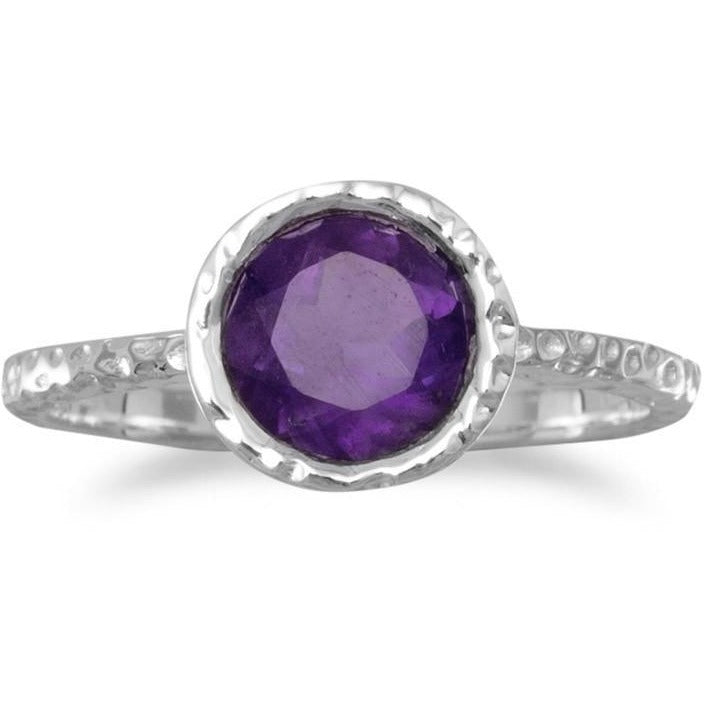 Stackable Amethyst Ring