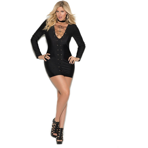 Plus Size Long Sleeve Mini Dress