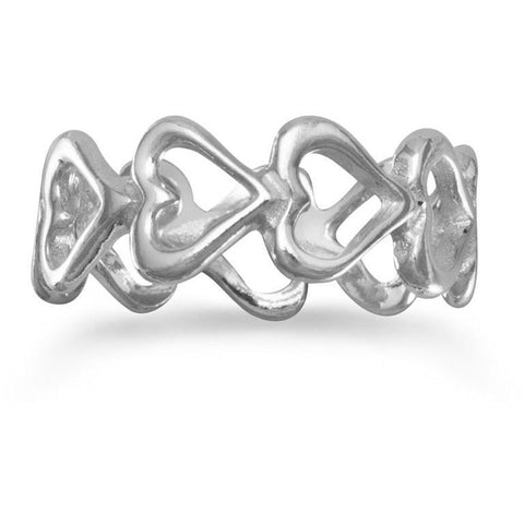 Cut Out Heart Band Ring