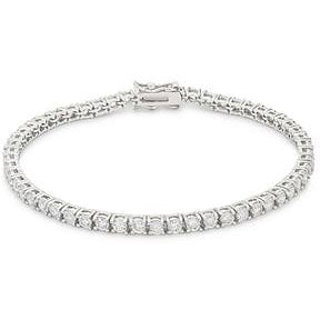 Silvertone Finish Victorian Cubic Zirconia Tennis 8 Inch Bracelet - Charmed Costumes