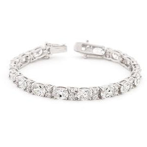 Oversized Oval Cubic Zirconia Tennis Bracelet - Charmed Costumes