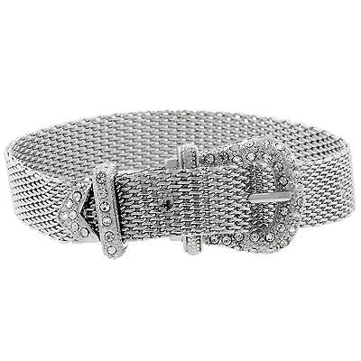 Silvertone Finish Buckle Bracelet - Charmed Costumes