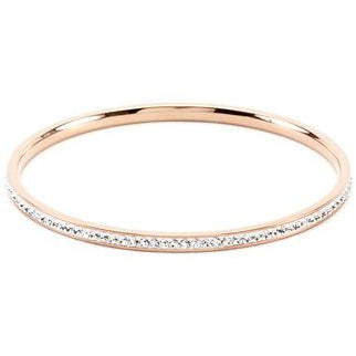 Simple Rosegold Finish Crystal  Bangle Bracelet - Charmed Costumes