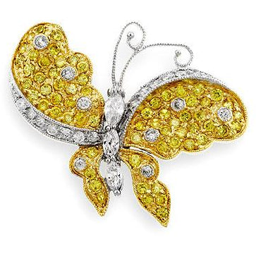 Golden Butterfly Brooch - Charmed Costumes