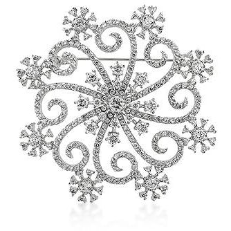 Snowflake Brooch - Charmed Costumes