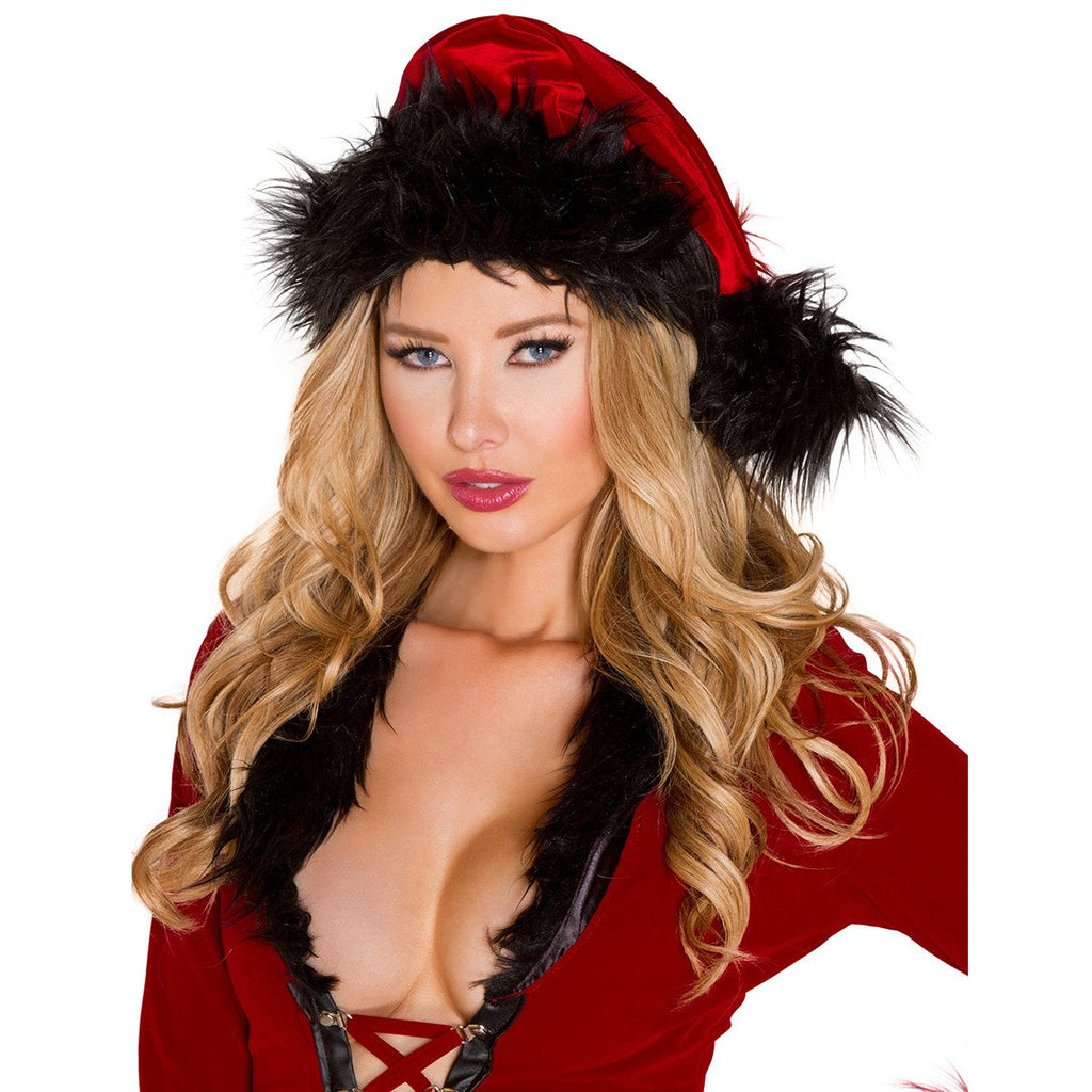 Fur Trimmed Hat - Charmed Costumes