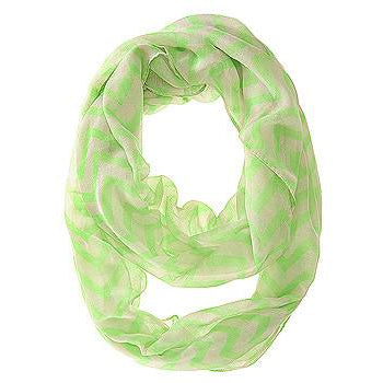 Zig Zag Neon Green Infinity Scarf - Charmed Costumes