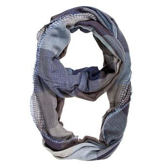 Blue Spencer Plaid Infinity Scarf - Charmed Costumes