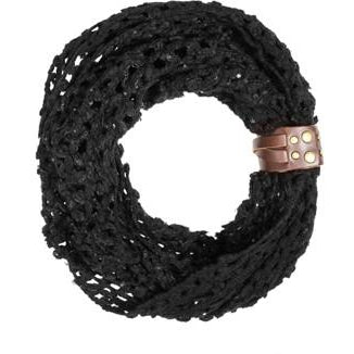 Black Sonia Crochet Cowl Scarf - Charmed Costumes