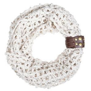 Off White Sonia Crochet Cowl Scarf - Charmed Costumes