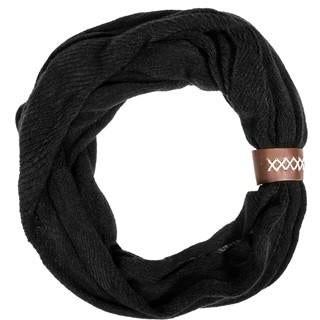 Black Sarah Knit Cowl Scarf - Charmed Costumes