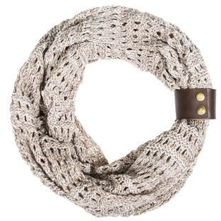 Taupe Jenna Knit Scowl Scarf - Charmed Costumes
