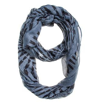 Grey Shauna Infinity Scarf - Charmed Costumes