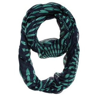 Navy Shauna Infinity Scarf - Charmed Costumes