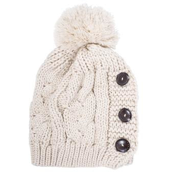 Off White Paula Knitted Pom Beanie - Charmed Costumes