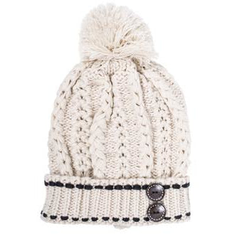 Off White Michelle Knitted White Stitch Beanie - Charmed Costumes