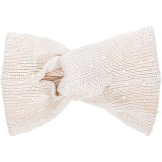 Off White Alison Knotted Knit Headband - Charmed Costumes