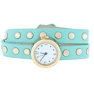 Mint Round Studded Wrap Watch - Charmed Costumes