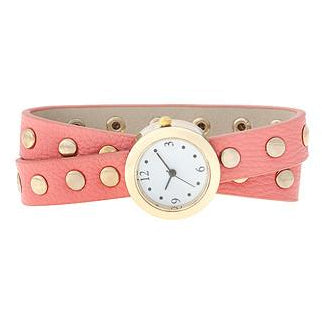 Pink Round Studded Wrap Watch - Charmed Costumes