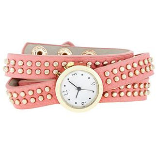Pink Mini Studded Wrap Watch - Charmed Costumes