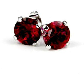 Ruby Cubic Zirconia Studded Earrings - Charmed Costumes