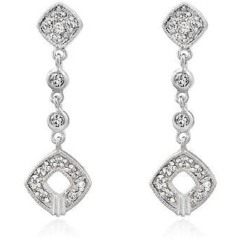 Elegant Clear Cubic Zirconia Drop Earrings - Charmed Costumes