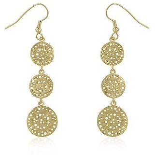 Golden Filigree Circle Earrings - Charmed Costumes