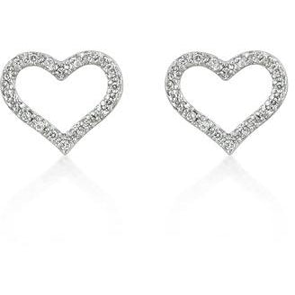 Open Heart Cubic Zirconia Earrings - Charmed Costumes