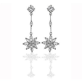 Star Cubic Zirconia Drop Earrings - Charmed Costumes