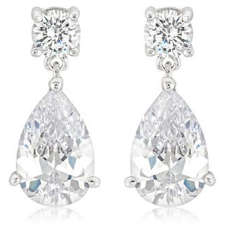 Elegant Cubic Zirconia Drop Earrings - Charmed Costumes