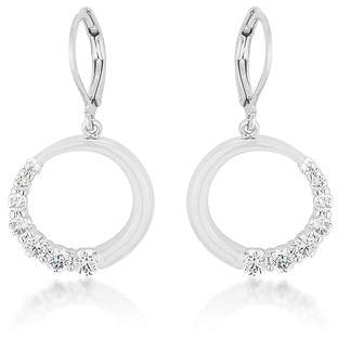 Graduated Cubic Zirconia Circle Earrings - Charmed Costumes