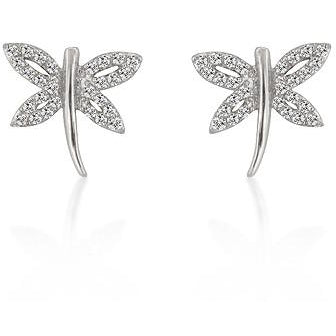 Cubic Zirconia Dragonfly Earrings - Charmed Costumes