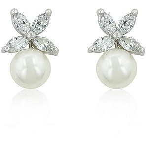Butterfly Pearl Stud Earrings - Charmed Costumes