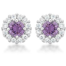 Bella Bridal Earrings in Purple - Charmed Costumes
