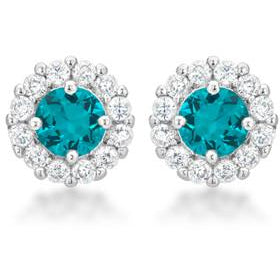 Bella Bridal Earrings in Aqua - Charmed Costumes