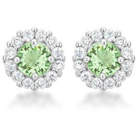 Bella Bridal Earrings in Peridot - Charmed Costumes