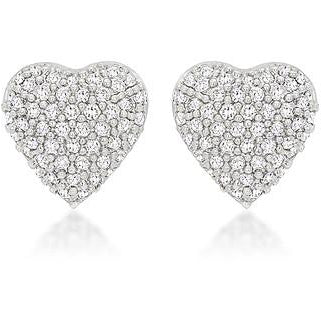Special Pave Heart Earrings - Charmed Costumes