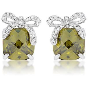 Olivine Drop Earrings with Bow - Charmed Costumes