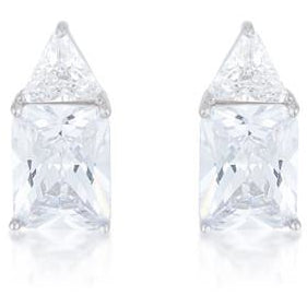 Classic Cubic Zirconia Sterling Silver Stud Earrings - Charmed Costumes
