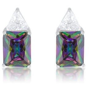 Classic Mystic Cubic Zirconia Sterling Silver Stud Earrings - Charmed Costumes