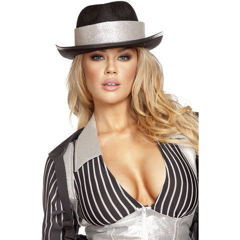 Gangster Hat with Silver Trim - Charmed Costumes