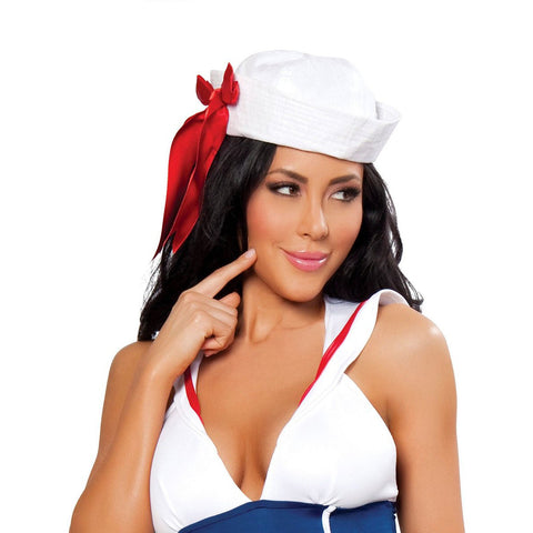 Sailor Hat with Red Ribbon - Charmed Costumes