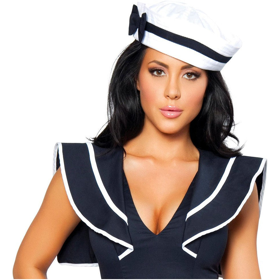 Sailor Hat with Blue Bow - Charmed Costumes