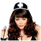 Black Nurse Hat with Cross - Charmed Costumes