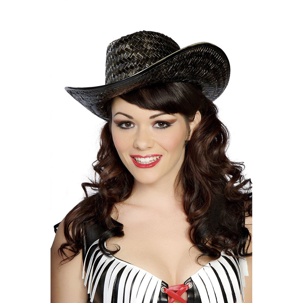 Black Straw Hat - Charmed Costumes
