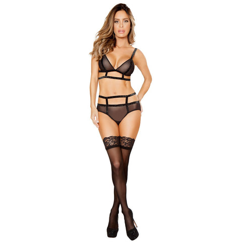 Sheer Top and Bottom with Shiny Elastic Straps - Charmed Costumes