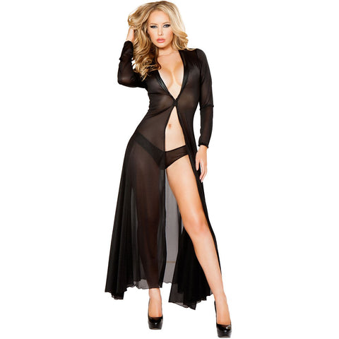 Long Sheer Robe with Hooks & Mesh Shorts - Charmed Costumes