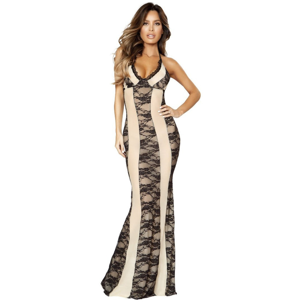 LI204 - Roma Confidential Lingerie Two-Tone Gown Dress